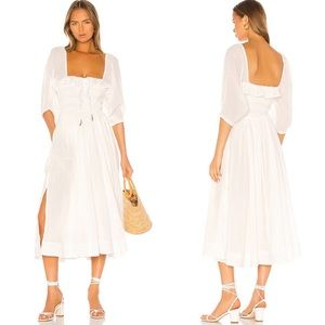 Free People Oasis Midi Dress Boho Ivory NWT XS